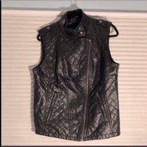 Apt. 9 Faux Quilted Leather Vest